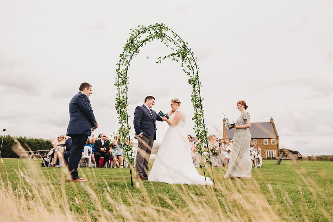Farm wedding in Warwickshire