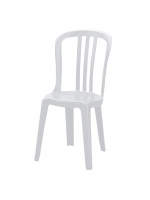 Furniture / White Plastic Bistro Chairs