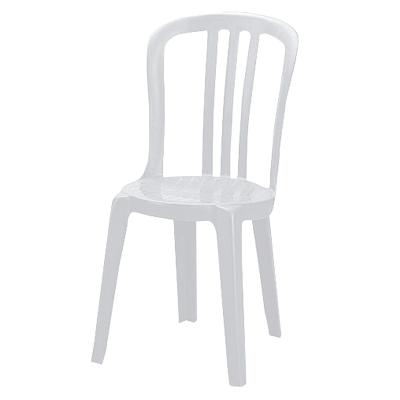 Furniture / White Plastic Bistro Chairs