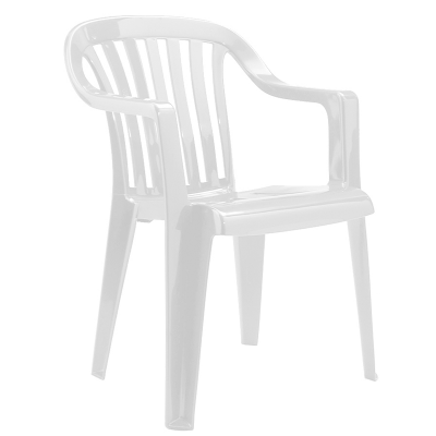 Furniture / White Plastic Garden Chairs