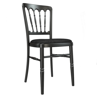 Black Cheltenham/Napoleon Banqueting Chair Hire