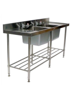 Freestanding Double Sink Unit