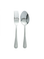Cutlery Hire / Serving Spoon & Fork - Table (Bead)