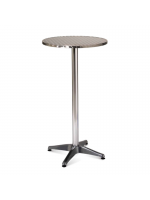 Furniture Hire / Poseur Table - Aluminium Top