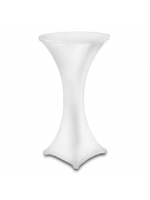 Furniture Hire / Poseur Table Cover - White
