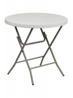 "Furniture / 2'8"" White Round Garden Table"