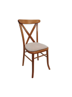 Light Oak Cross Back Banquet Chair Hire