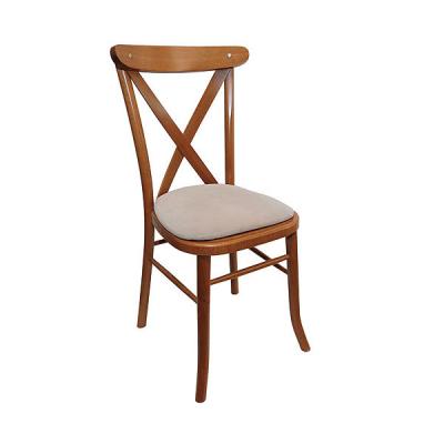 Light Oak Cross Back Banquet Chair Hire