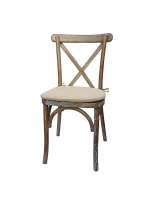 Dark Oak Cross Back Chair Hire