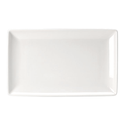 "Crockery Hire / 10¾"" x 6½"" Rectangle Plates - Monaco Fine"